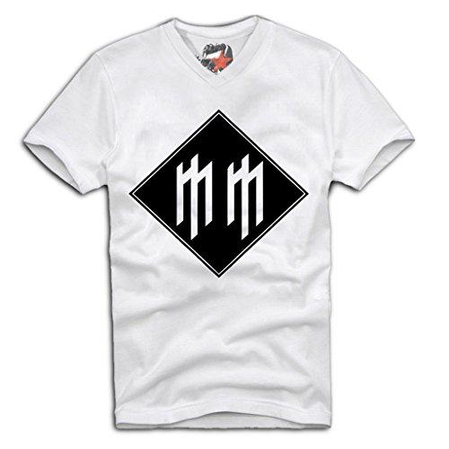 E1SYNDICATE V-Neck T-Shirt Marilyn Manson Metal antichrist Slipknot Sz. S-XL