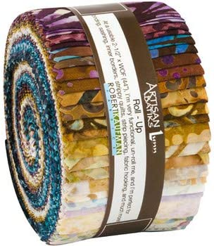 M523.13 Jelly Roll Artisan Batiks Sorrento Robert Kaufman Batik 2.5 Roll Up Cotton Precuts