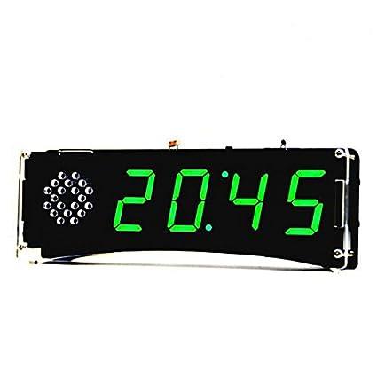 LaDicha Yd-030 5V Voz Versión Diy Reloj Electrónico Kit 51 Scm Reloj Digital Led