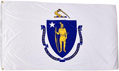 - Online Stores Massachusetts Superknit Polyester Flag, 3 by 5-Feet