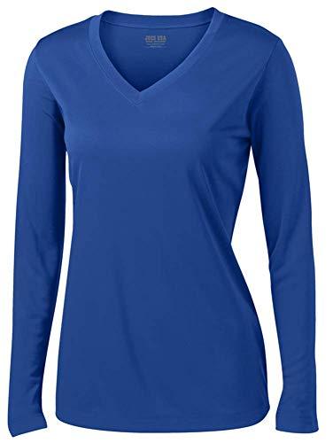 Joe's USA - Ladies Long Sleeve Moisture Wicking Athletic Shirts, Royal X-Small]()