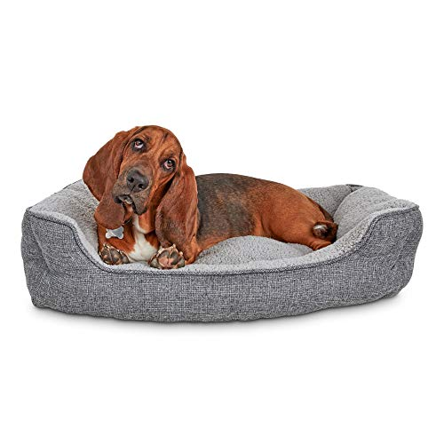 Harmony Cozy Cottage Gray Nester Dog Bed, 32