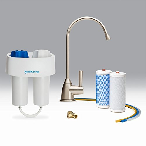 Austin Springs AS-DW-UC Undercounter Water Filter, Brushed Faucet