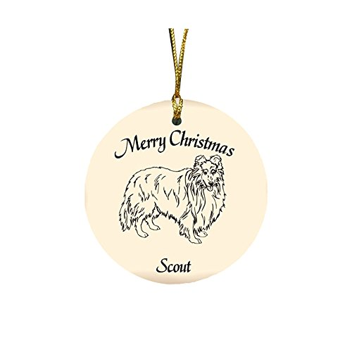 GiftsForYouNow Dog Breed Personalized Christmas Ornament, Shetland Sheepdog