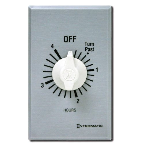 Intermatic FF4H 4-Hour Spring Loaded Wall Timer, Brushed Metal New -supplier-home-gallery