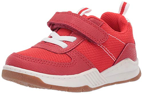 OshKosh B'Gosh Girls Ethan Boy's Mesh Athletic Sneaker, red 11 M US Toddler