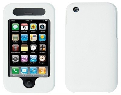 Logotrans Slidecase weiß und Displayschutzfolie für Apple iPhone 3G / 3Gs