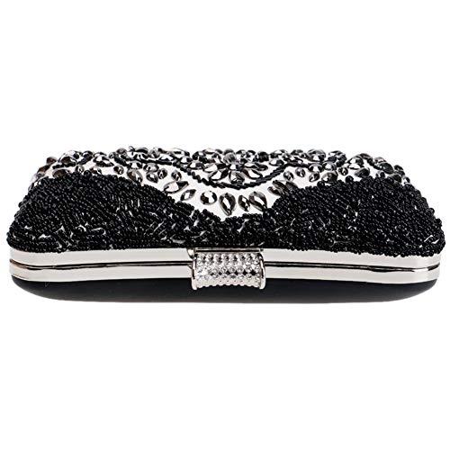 Clutches Key Purse Wedding Evening Handbags Chain Crystal Womens Dress Black Bags wqPXE