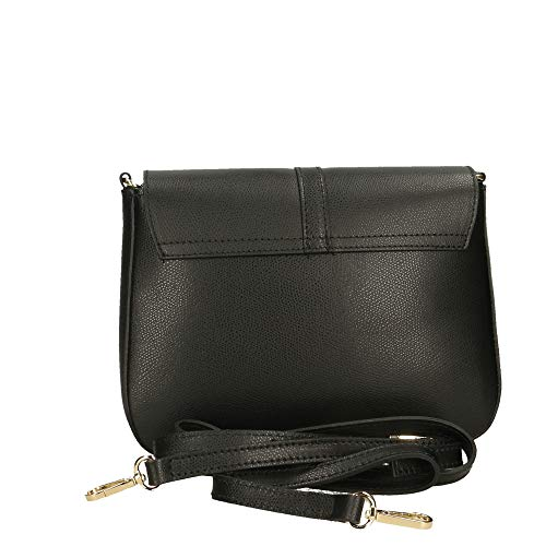 Chicca Hombro Bolsa 24x18x8 Borse Made In Genuina Negro Italy De Piel En Cm qOqZRnU