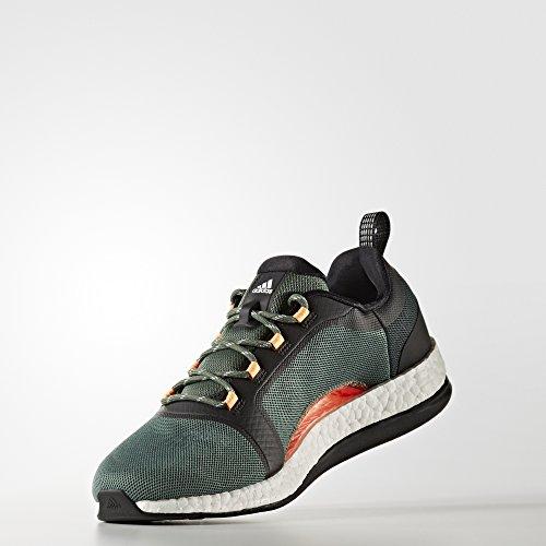 adidas Pure Boost X TR 2 - Zapatillas de running para Mujer, Verde - (VERTRA/NEGBAS/FTWBLA) 36 2/3