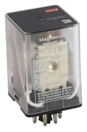 Plug In Relay, 8 Pins, Octal, 120VAC (Octal Socket)