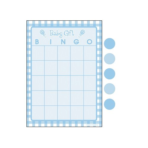 Creative Converting Baby Shower Boy Gingham 10 Count Bingo Game ()
