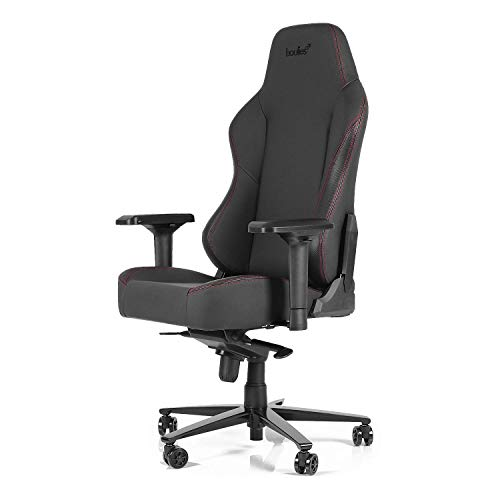 boulies Computer Gaming Chair Racing Office Desk Chair 4D Armrest Memory Foam Lumbar Pillow 330LB - Master Series (Black) ()