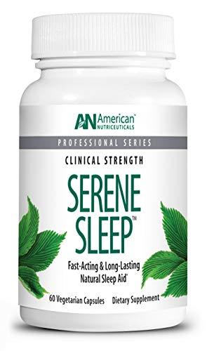 American Nutriceuticals - Serene Sleep - 60 Capsules - Natural Multi-Faceted Sleep Aid - Fast Acting & Long Lasting for Deep, Restful Sleep -  A1020