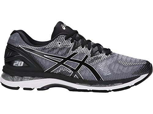 ASICS Men's Gel-Nimbus 20 Running Shoe, Carbon/Black/Silver, 6.5 Medium ()
