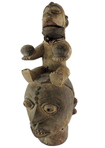 Ogoni Figural Headdress Articulated Jaw Nigeria African Art