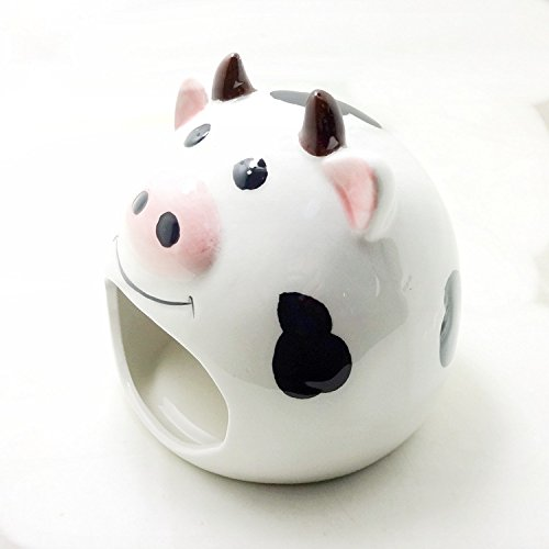(Small Animal Hideout Ceramic House Critter Bath House Cave Mini Hut Cage for Chinchilla Hamster (WHITE))