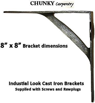 Industrial Look Shelf Support Metal Cast Iron Bracket