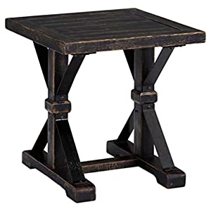Ashley Furniture Signature Design - Beckendorf Casual Square End Table - Black