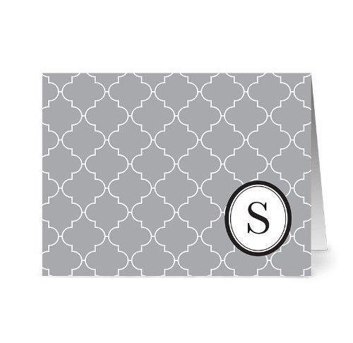 modern-lattice-s-smoke-monogram-24-cards-blank-cards-w-grey-envelopes-included
