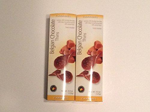 (Royal Belgian Chocolate Thins Caramel (Package of 2))