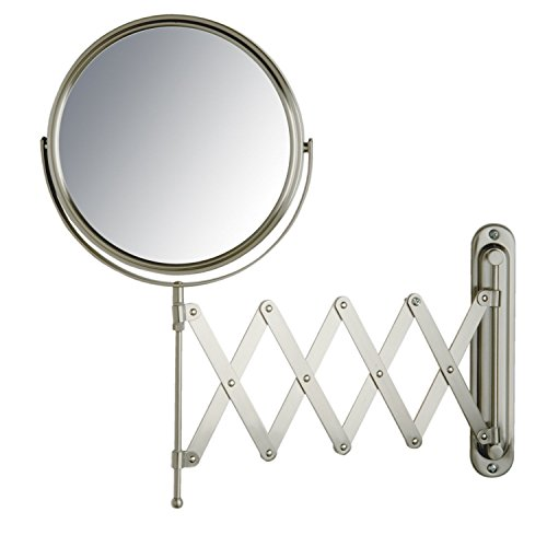 Jerdon JP2027N 8-Inch Wall Mount Makeup Mirror with 7x Magnification, Nickel -
