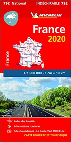 carte routiere france 2020 France 2020   Indéchirable (CARTES (7800)) (French Edition
