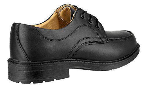 Amblers Steel Lace-Up Synethetic/Textile Lined Mens Shoes - Black - Size 11