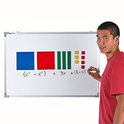 EAI Education Jumbo Magnetic QuietShape Algebra Tiles - Set of 35 - Algebra Tiles Student Set