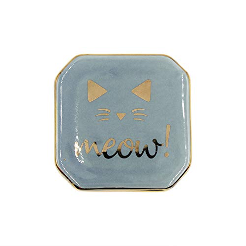 mossty Unicorn Jewelry Box Cat Trinket Organizer Ring Bearer Holder Earrings Storage Case with Lid Gift for Birthday Christmas Wedding