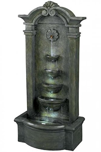 Kenroy Home #53245MS Sienna Outdoor Floor Fountain in Mossy Stone Finish