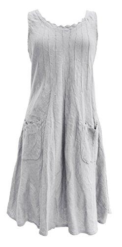 Linen Pintuck Dress - 4