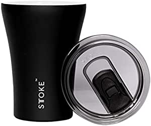 Sttoke ST-BLK8 Reusable Cup, One Size, Black, ST-BLK8