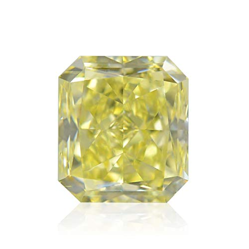(Leibish & Co 1.02Cts Fancy Yellow Loose Diamond Natural Color Radiant Cut GIA Certificate )