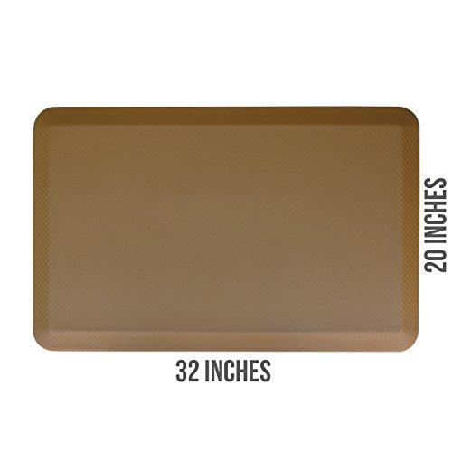 Buhbo ERGO Comfort Series Anti-Fatigue Floor Mat for Office, Kitchen, Standing Desk, Garage (20