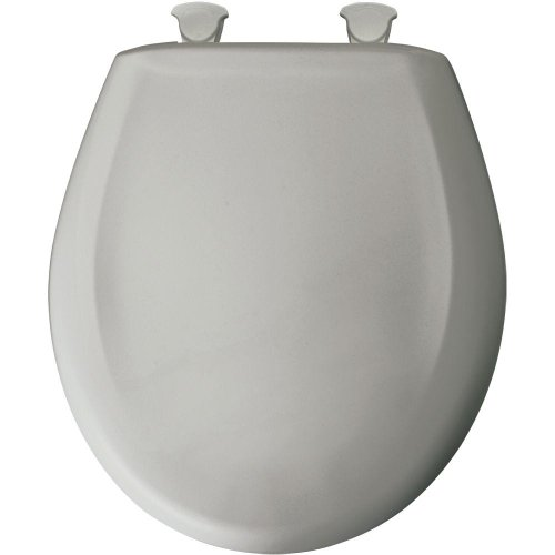 Bemis 200SLOWT 162 Lift-Off Plastic Round Slow-Close Toilet Seat, Silver