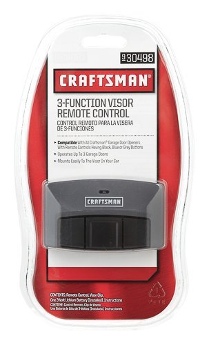 Craftsman Garage Door Opener 30499 3-Function Compact Remote -