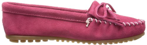 Minnetonka Womens Kilty Suede Mocassino Rosa