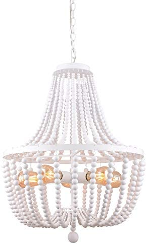 Alice House 21″ Wood Bead Chandelier
