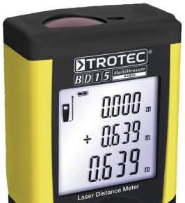 Trotec BD15/Digital Laser Distance M/ètre testeur Range Finder Mesure 0,05//à 50/m