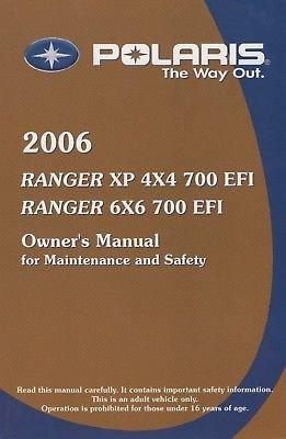 polaris ranger owners manual - 5