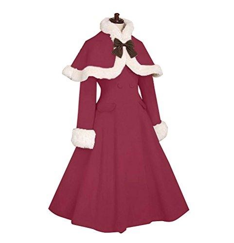 Nuoqi Sweet Classic Lolita Winter Overcoat Faux Fur Cape ...