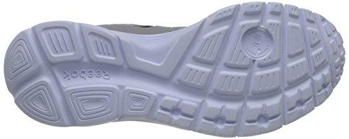Reebok Hommes Courir Suprême 2.0 4e Chaussure De Course Plat Gris / Noir / Blanc