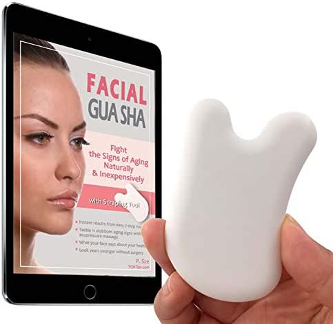 Anti-Aging Facial Gua Sha Scraping Tool Acupressure Massage with Problem-Specific Instructions