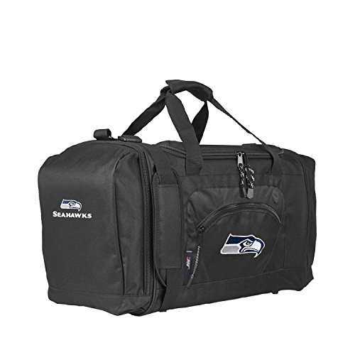 (The Northwest Company Officially Licensed NFL Seattle Seahawks Unisex Roadblock Duffel Bag, Red)