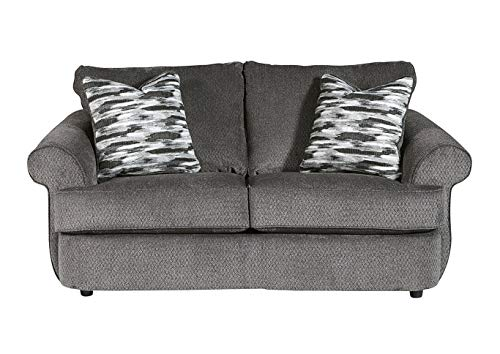 Benchcraft - Allouette Casual Upholstered Loveseat - Ash