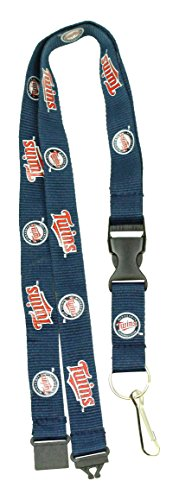 (MLB Minnesota Twins Team Color Lanyard, 22-inches, Blue)