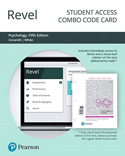 Revel for Psychology -- Combo Access Card (5th Edition)
