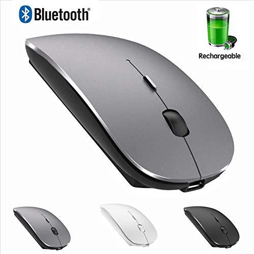 Bluetooth Mouse for IPad and Phone MacBook Window Laptop Bluetooth Wireless Mouse for MacBook pro MacBook Mac MacBook Air (Gray)