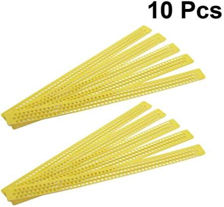 DOITOOL 10ピースプラスチック花粉コレクタートラップ取り外し可能な換気花粉コレクター用品養蜂家養蜂アクセサリー養蜂アクセサリー(薄黄色)